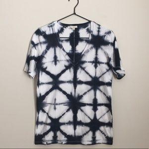 Gap shibori tie dye V-neck T-shirt